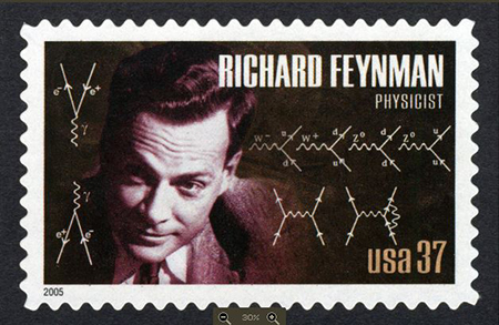 Feynman stamp